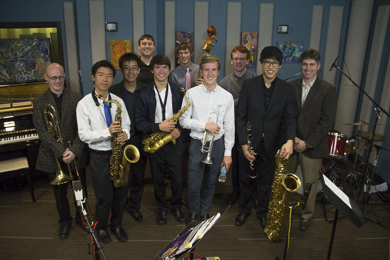 The Bellevue High School Jazz Combo joined trombonist David Marriott for a live performance in the KPLU studios.