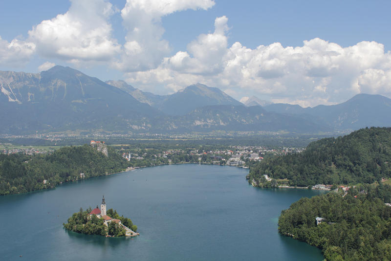 Lake Bled, in Solvenia's Julian Alps, is a beautiful stop on your trip.
