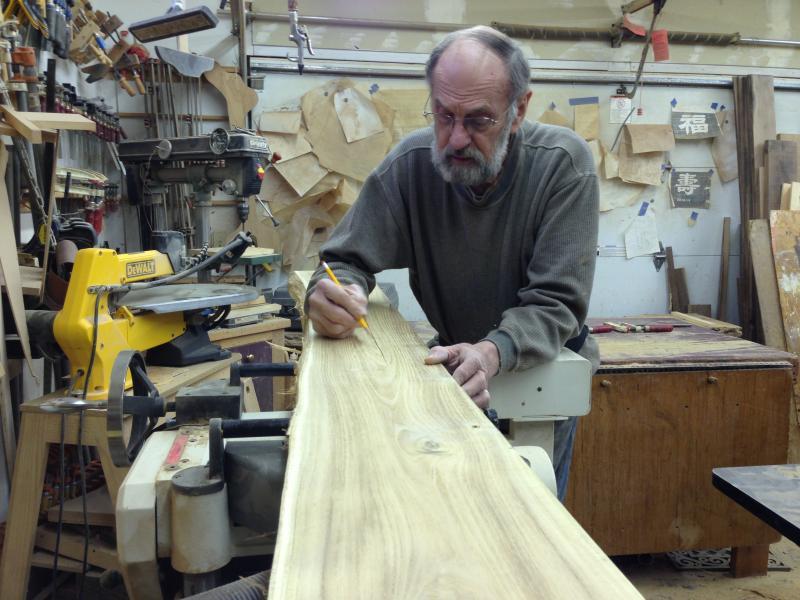 Craftsman Cliff Adams gets to work.