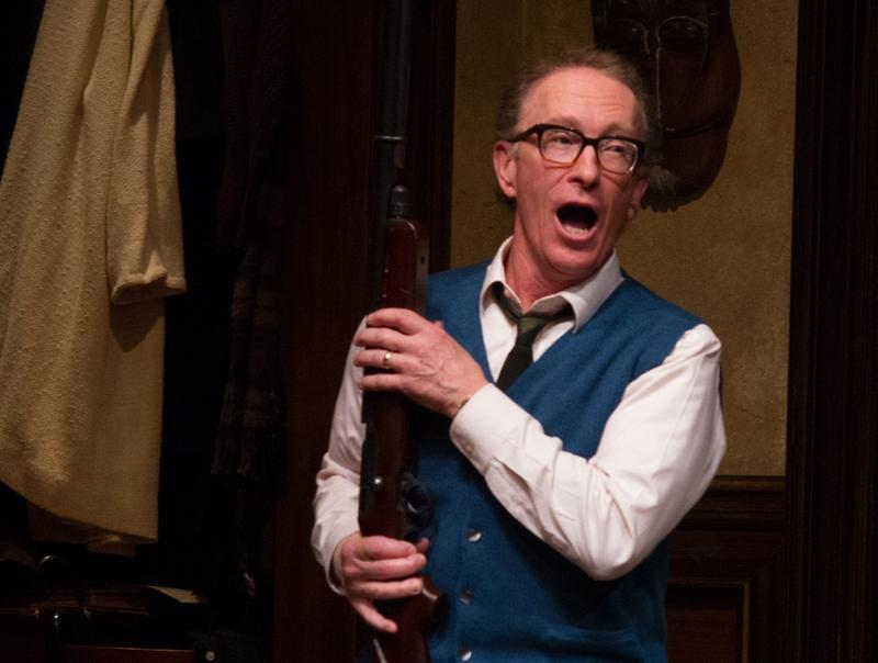"Bob Wright, commonly known to theatergoers by his Actors Equity name R. Hamilton Wright, performs in the Seattle Repertory Theatre's recent production of ""Who's Afraid of Virginia Woolf."""