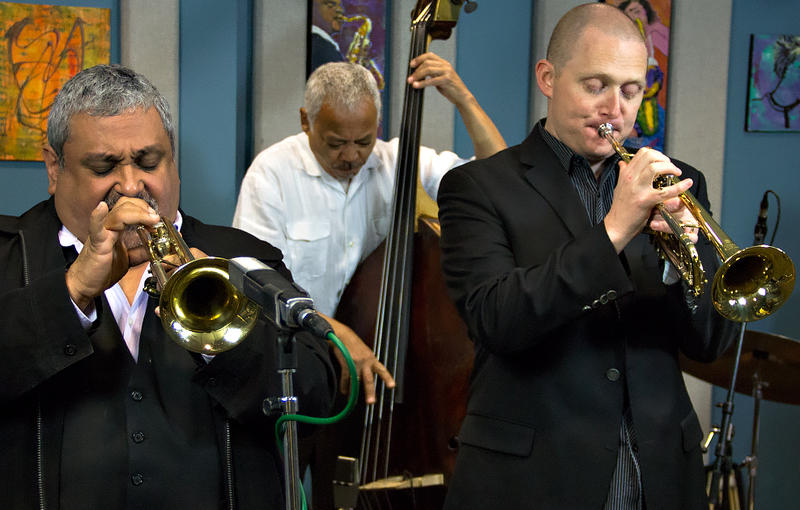 New York native, Ray Vega, and Seattle's own Thomas Marriott perform in the KPLU Seattle studios.