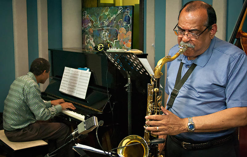 Ernie Watts performing with The Marc Seales Trio live in the KPLU Seattle studios.