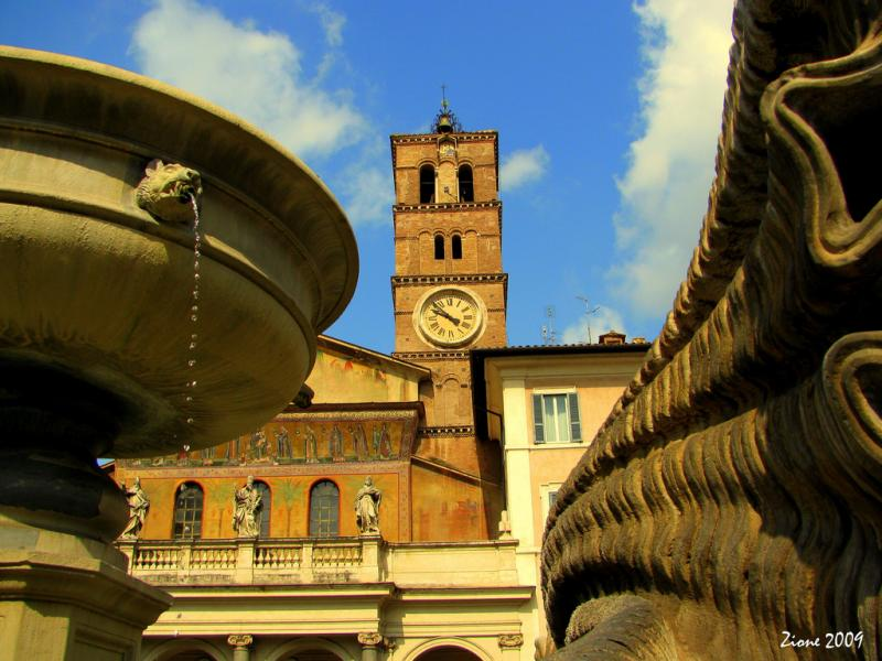 The Basilica di Santa Maria in Trastevere is at the focal point of the Piazza di Santa Maria. A good place to see Rome as the Romans do, says Matthew Brumley.