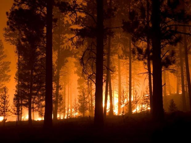 File photo of 2013's Little Queens Fire near the town of Atlanta, Idaho.