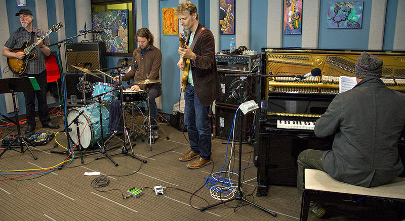 Medeski, Scofield, Martin and Wood performing live in the KPLU Seattle studios.