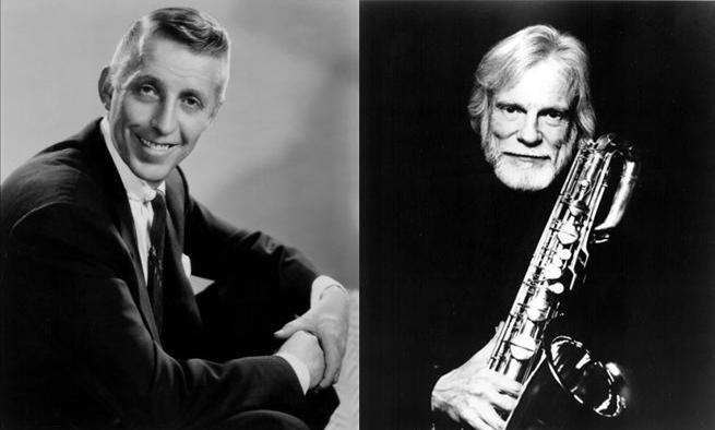 Stan Kenton (right) and Gerry Mulligan (left)
