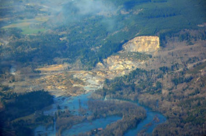"The 2014 Oso slide ""remobilized"" the zone of a smaller slide from 2006."
