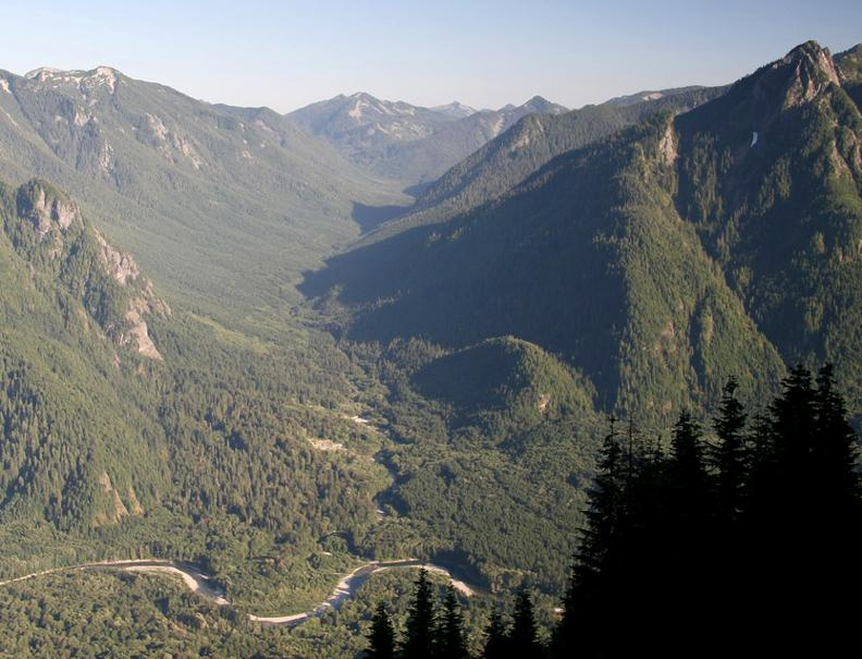 "The Pratt River Valley, which is the heart of the more than 20,000 acres of Wilderness additions to the Alpine Lakes Wilderness. The bill would also designate the Middle Fork Snoqualmie and Pratt Rivers (pictured) as ""wild and scenic."""