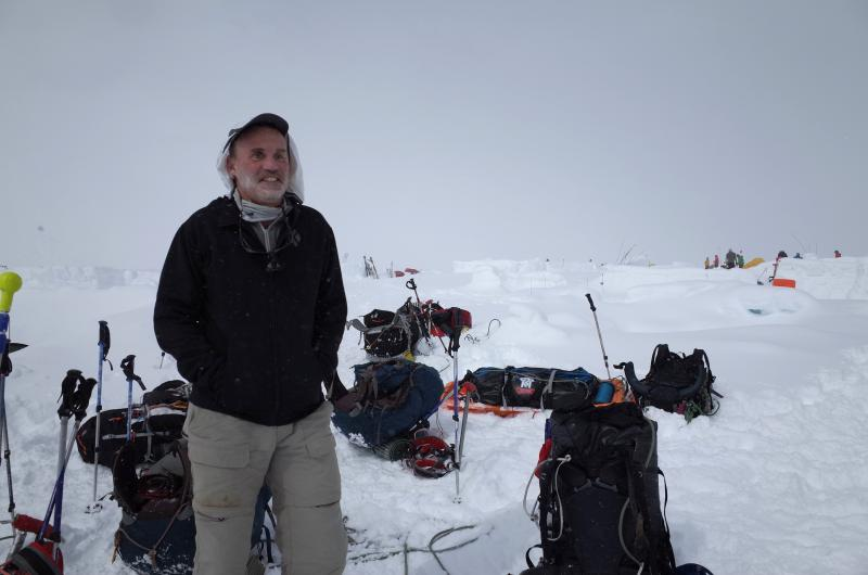 Bruce Stobie is seen on Denali.