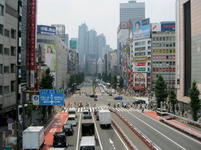 Driving on the left, as seen on this road in Tokyo, is often the toughest adjustment for American drivers. Expect to deal with it in the United Kingdom, Ireland, Australia, India and southcentral Asia, southeastern Africa, and Japan, among other places.