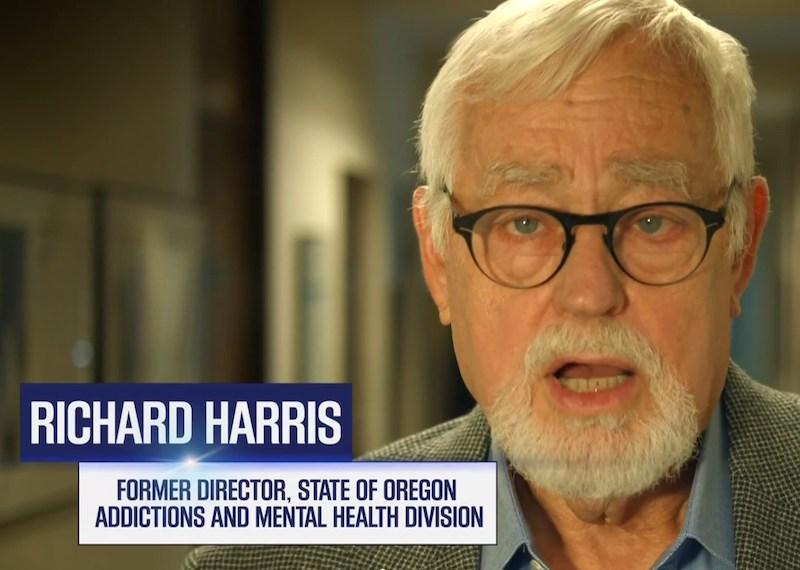 Richard Harris is seen this screen grab from an online ad by Oregon's Yes on 91 campaign.