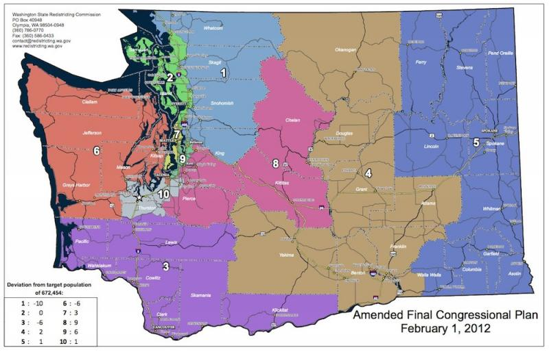 The seat from Washington's 4th Congressional District, which runs from the Canadian Border to the Columbia River in central Washington, is up for grabs.