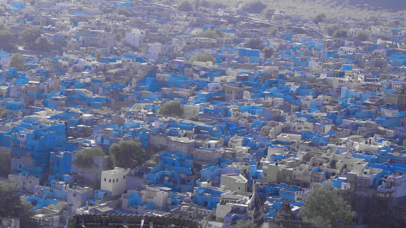 The city of Jodhpur, in India's northwest state of Rajasthan, is largely painted blue.