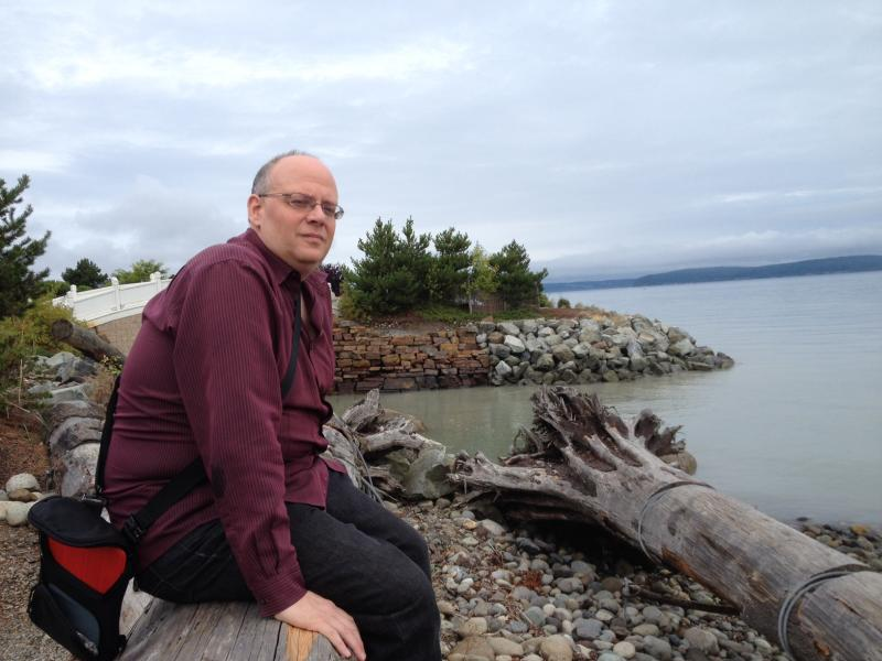 Tacoma's poet laureate, Lucas Smiraldo