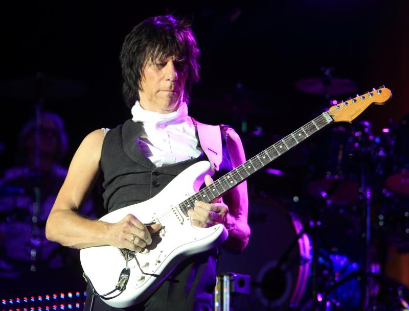 Legendary guitarist Jeff Beck performs in concert at The Sands Event Center on Sunday, Oct. 6, 2013, in Bethlehem, Pennsylvania.