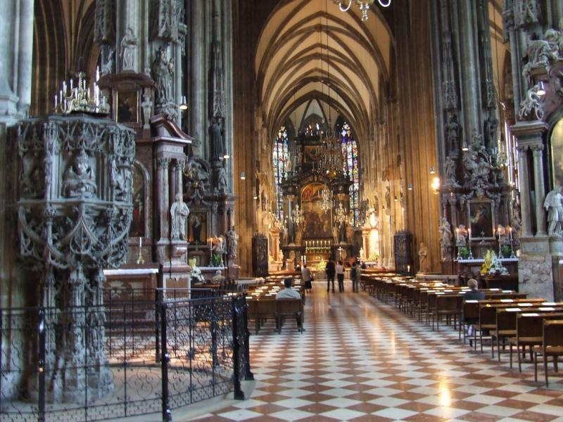 St. Stephen's Cathedral sits in the middle of Vienna. Its bells can regularly be heard across the city.