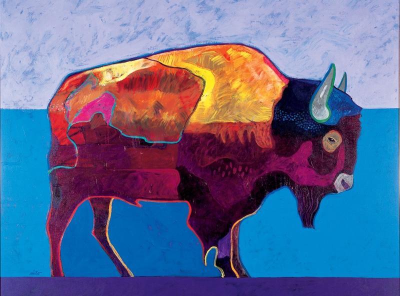 Buffalo At Sunset by John Nieto