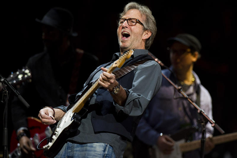 Eric Clapton performs at Eric Clapton's Crossroads Guitar Festival 2013 at Madison Square Garden on Sunday, April 14, 2013 in New York.
