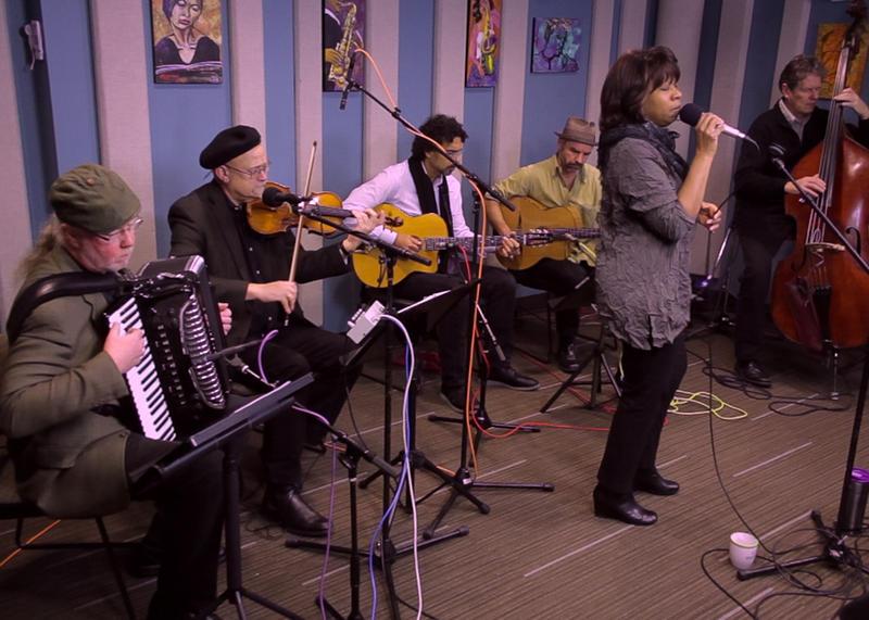 Gail Pettis with Pearl Django live in the KPLU studios.