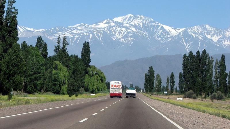 The drive between Argentina and Chile brings you face-to-face with Mt. Aconcagua, the tallest mountain outside Asia.