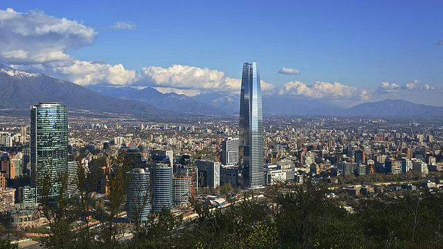 Parque Metropolitano offers sweeping views of Santiago, Chile.