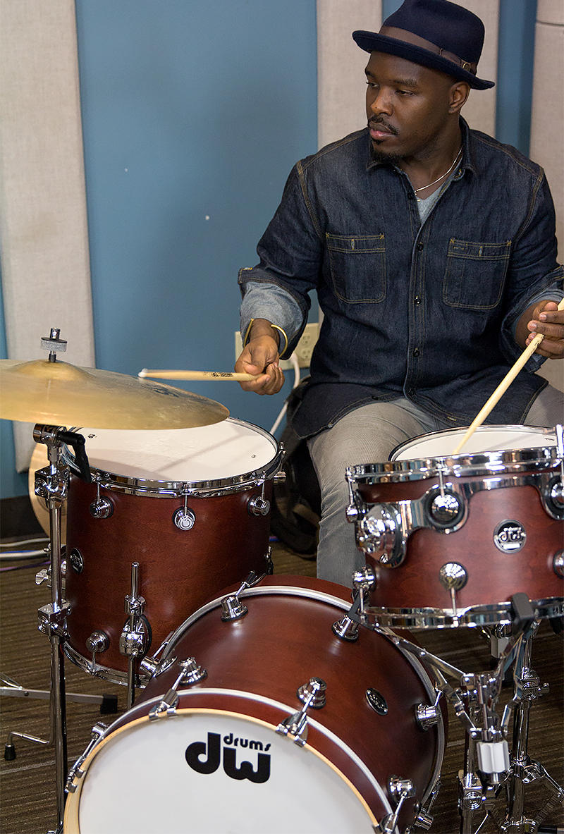 Ulysses Owens, Jr. performing live in the KPLU Seattle studios.