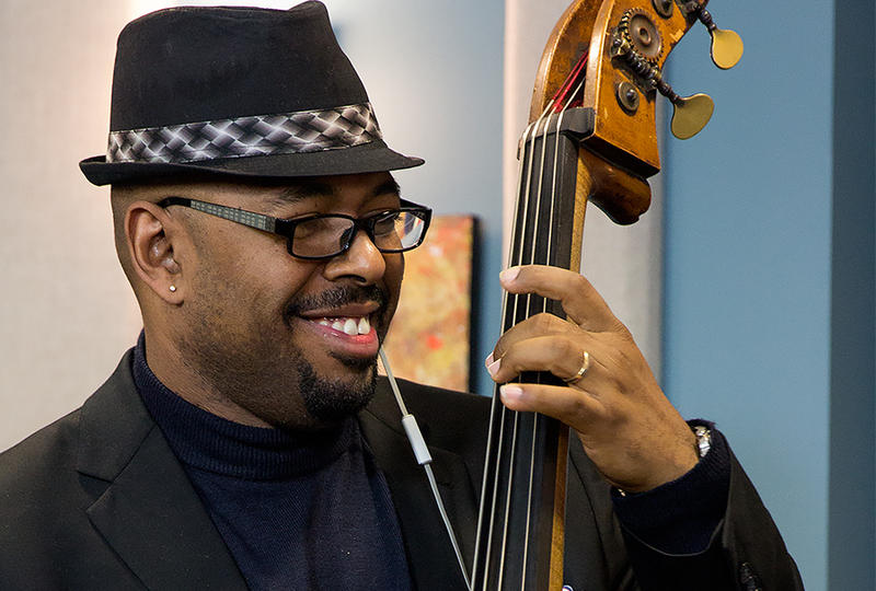 Bassist Christian McBride performing live in the KPLU Seattle studios.