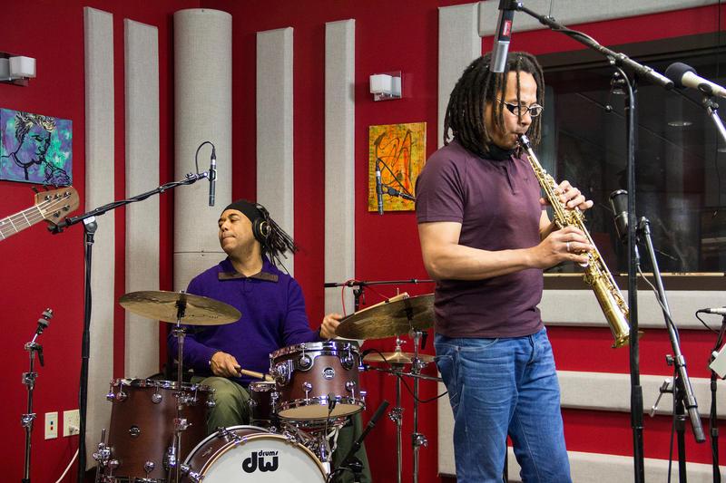 Ernesto Simpson and Leandro Saint-Hill in the KPLU Seattle studio.