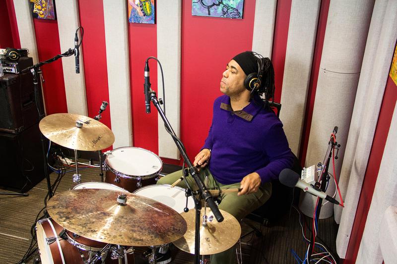 Ernesto Simpson in the KPLU studio.