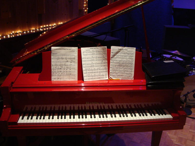 A red piano!