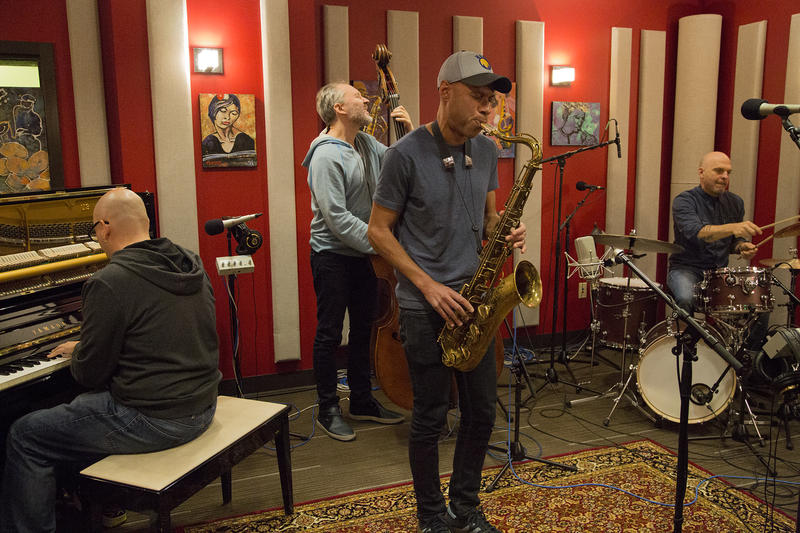 The Bad Plus Joshua Redman live in the KPLU studios for a studio session.