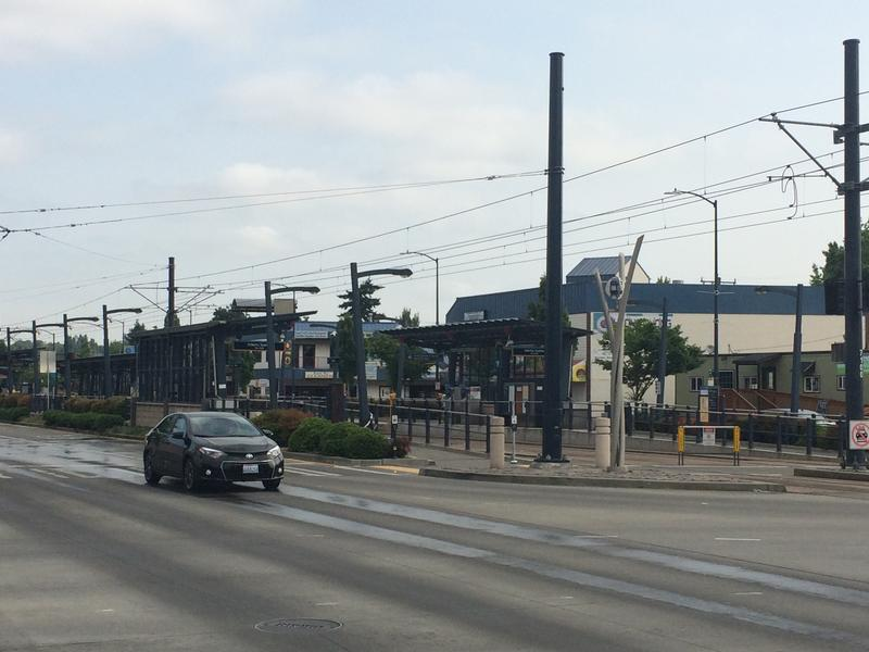 The Light Rail stop at Othello and Martin Luther King Jr Way S., in Southeast Seattle.