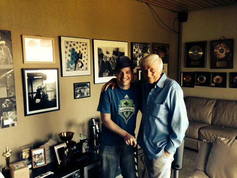 Seattle music impresario Pat O'Day and Aaron D'Errico.