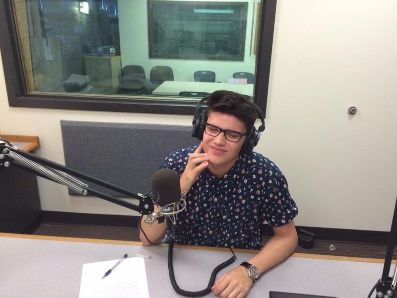 Colby Jackson in the KPLU studios.
