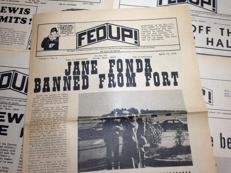 A copy of Fed Up, published in Tacoma in 1970.