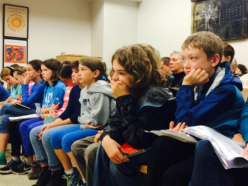 Kids filled the benches of King County Superior Court before Judge Hollis R. Hill to hear oral arguments about climate change, on November 3rd, 2015.