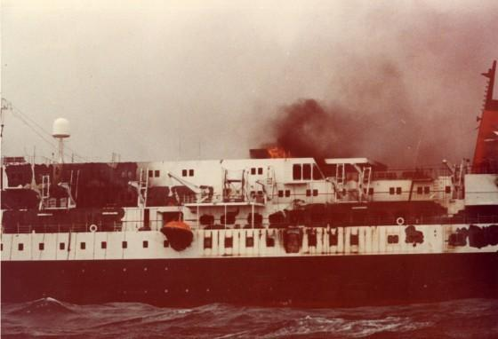The 427-foot cruise ship Prinsendam had an engine room fire in 1980 that forced all passengers and crew to abandon ship. They reunited in Seattle, 35 years later.