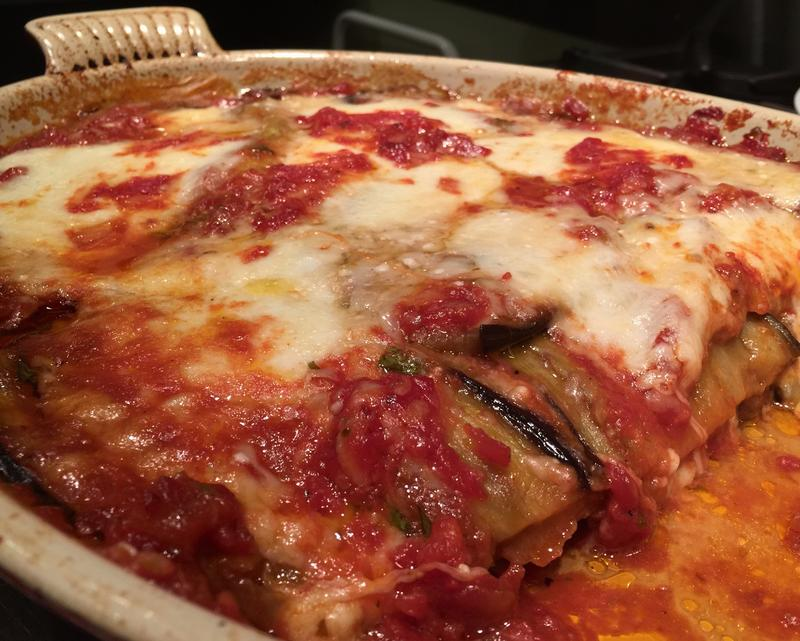 Food for thought the great eggplant parmigiana smackdown for Fat nancy s fishing report