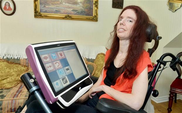 Dawn Faizey Webster developed locked-in syndrome after suffering a stroke. She communicates through eye blinks and tiny head movements. Webster recently completed a degree in history using a special laptop that translates her eye movements into text.