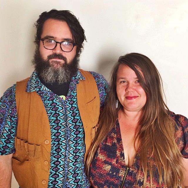 Garrett Kelly and Amber Kai Morgan, the founders of Hollow Earth Radio