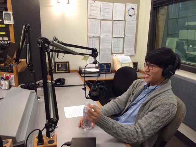 Jungwoo Lee in the KPLU studios.