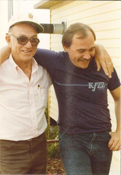 KPLU's Nick Morrison and his father, 1981.
