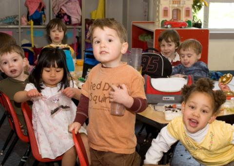 The preschool program at Adams Elementary in Ballard, run by the nonprofit, Kids Co. The program has to find a new home due to growing enrollment in the Seattle School District.