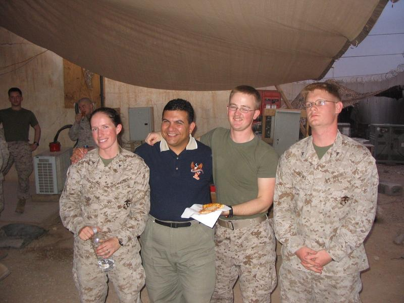 Vanessa Davids, on base in Iraq.