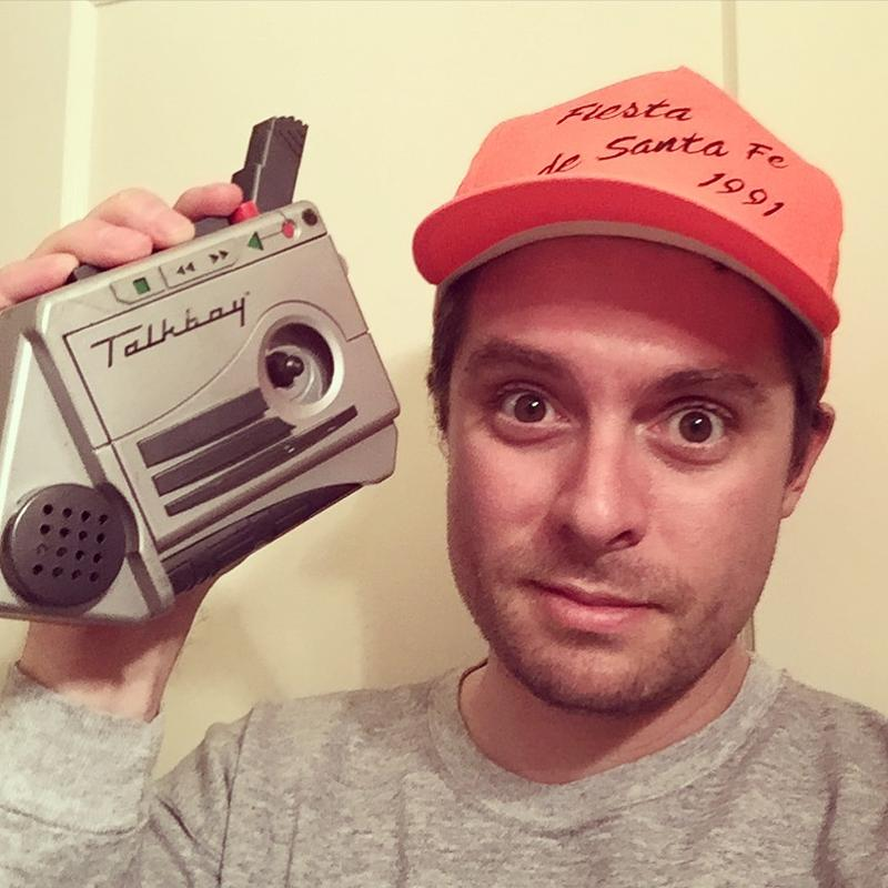 Producer Warren Langford and his Talkboy