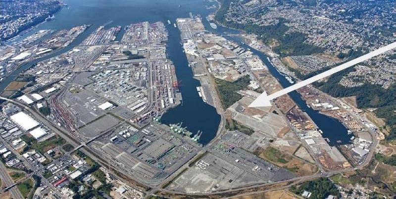 The site at the Port of Tacoma where the company proposed building a methanol plant