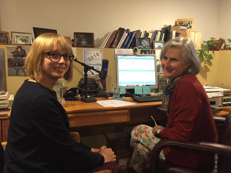 Sandy Hirsch (right) helps clients like Lena Chappelle adapt their voices to their gender identity.