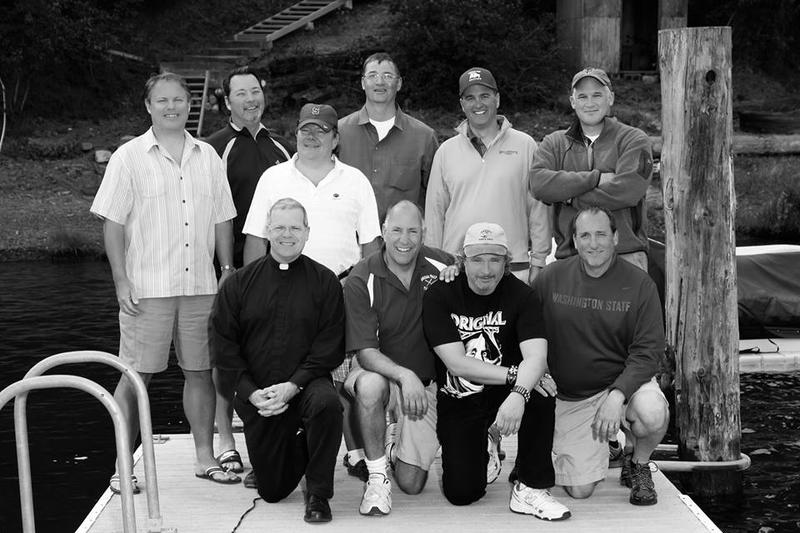 These 10 friends from high school play tag during the month of February.  Back row, left to right: Mike Konesky, Bill Akers, Pat Shulteis, Mark Mengert, Chris Ammann, Brian Dennehy.  Front row,  Sean Raftis, Joey Tombari, Joe Caferro, Rick Bruya.