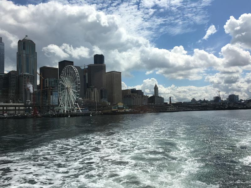 Seattle skyline from the water as seen on July 12th, 2016