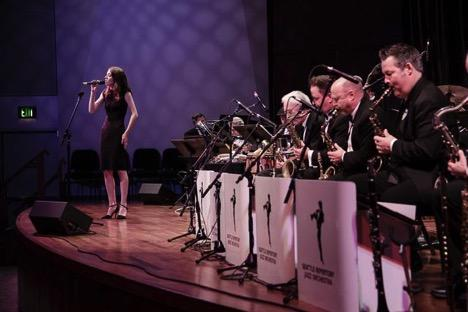 Eliana Glass sings a Jobim song with the Seattle Repertory Jazz Orchestra